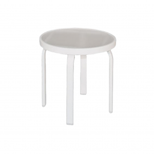"""18"""" Flat Tube Side Table with Acrylic Top"""