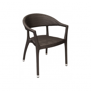 WIC-11 Rounded Wicker Chair (Stackable)