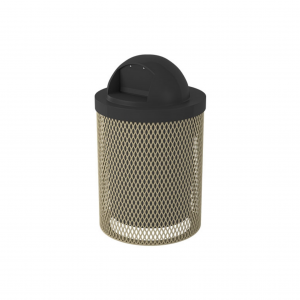 Standard 32 Gallon Trash Receptacle ( W/ Liner & Dome)