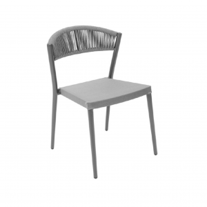 Rope Back Armless Dining Chair