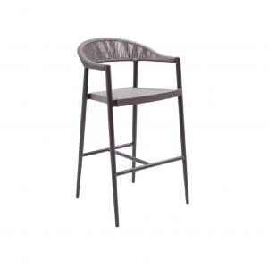 Rope Back Bar Stool