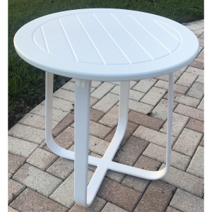 Side Table With Marine Grade Polymer Top
