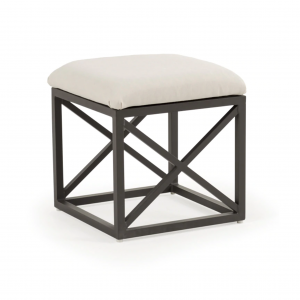 "Melbourne 17.5"" Square Stool W/ Cushion"