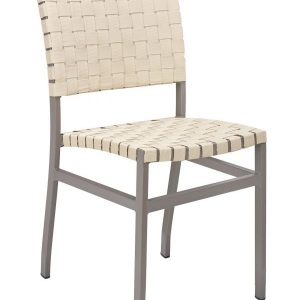 Cross Strapped Armless Chair