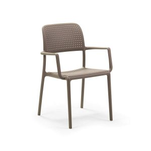 Bora Tortora Stacking Arm chair