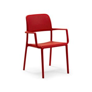 Bora Rosso Stacking Arm chair