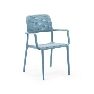 Bora Celeste Stacking Arm chair