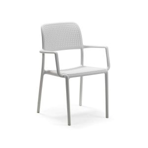 Bora Bianco Stacking Arm chair
