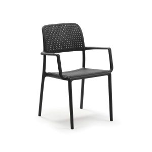 Bora Antracite Stacking Arm chair