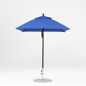 6.5' Square Pulley Lift Market Umbrella