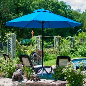 9' Pulley lift Market Umbrella with Vent