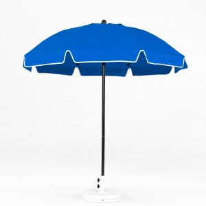 7.5' Manual Lift Patio Umbrella with Vent & Valence