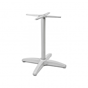 "Aluminum Table Base with Cast weighted bottom for 24-36"" Table Tops"