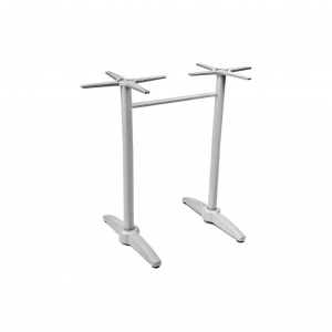 "41"" Dual Aluminum Table Base with Cast weighted bottom for 32-48"" Tops"