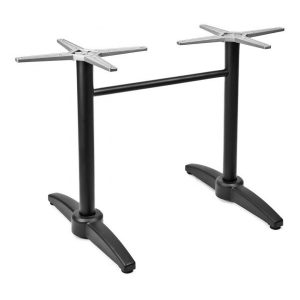 "28"" Dual Aluminum Table Base with Cast weighted bottom"