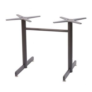 """28"""" Double Post Aluminum T-Base for 32x48 Table Tops"""