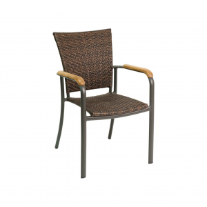 Wicker Dining Chair with Arms