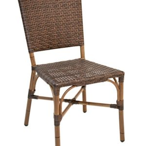 Bamboo Wicker Armless Dining Chair