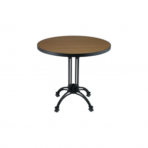 "24"" Teak/Aluminum Round Table top"