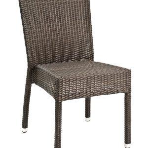 Wicker Armless Side Chair