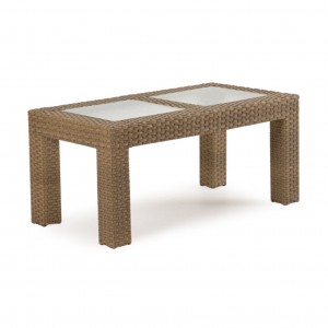 "Sawgrass 23""x 43.5"" Rectangle Cocktail Table with Glass Top"