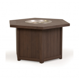 """Riviera 42"""" Hexagon Fire Pit with Lid"""