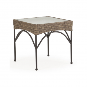 Largo Square End Table with Glass Top