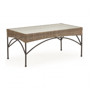 Largo Rectangle Cocktail Table with Glass Top