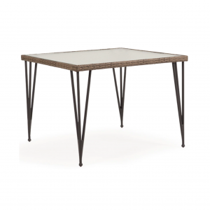 "Largo 39"" Square Dining Table with Glass Top"