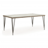 "Largo 39""x 68"" Rectangle Dining Table with Glass Top"