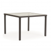 """Callaway 43"""" Square Dining Glass Top Table with No Umbrella Hole"""