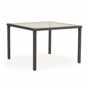 "Callaway 43"" Square Dining Glass Top Table with No Umbrella Hole"