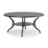 """Ormond 60"""" Round Dining Table with Umbrella Hole"""
