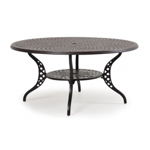 "Ormond 60"" Round Dining Table with Umbrella Hole"