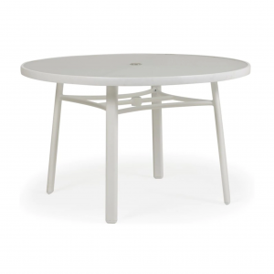 "Sebastian 48"" Round Glass Table Top With Umbrella Hole"