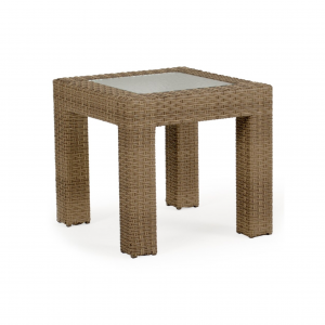 "Sawgrass 24""x 23.5"" Square End Table with Glass"