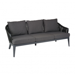 Vero Beach Anthracite 3-Seat Sofa