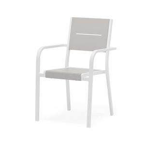 Aluminum Slat Dining Chair