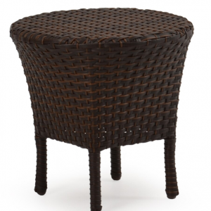 "Alexandria 18"" Round Tea Table with Woven Top"