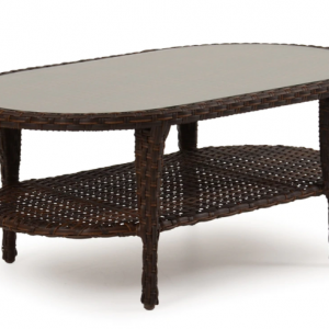 "Alexandria 42"" x 20"" Oval Cocktail Table with Glass Top"