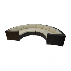 Round Armless Sectional