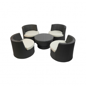 Tower Coffee Table and Lounge Chair Set