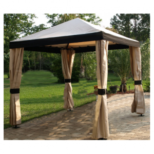 FLP Series Pavilion Cabanas with False Drapes