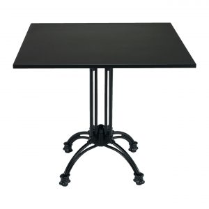 32x32 Powder Coated Black Aluminum Table Top