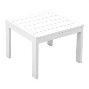 White Aluminum End Table