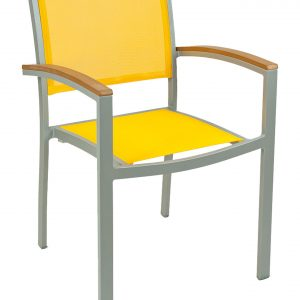 Sling Chair with Synthetic Teak Arms