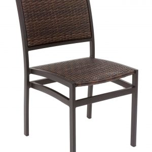Aluminum Frame Wicker Armless Dining Chair