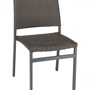 Wicker Weave Armless Dining Chair