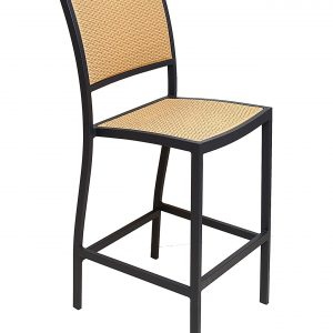 Aluminum Frame Wicker Armless Bar Stool