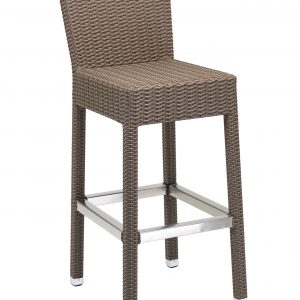Armless Wicker Bar Chair